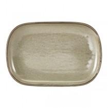 Terra Porcelain Grey Rectangular Plate 24 x 16.5cm