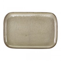 Terra Porcelain Grey Rectangular Plate 34.5 x 23.5cm