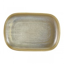 Terra Porcelain Matt Grey Rectangular Plate 24 x 16.
