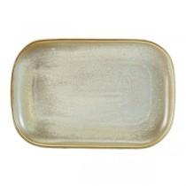 Terra Porcelain Matt Grey Rectangular Plate 29 x 19.5cm
