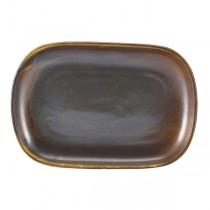 Terra Porcelain Rustic Copper Rectangular Plate 24 x 16.5cm