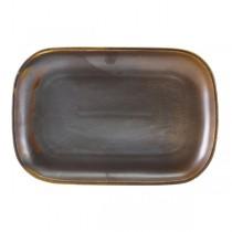 Terra Porcelain Rustic Copper Rectangular Plate 29 x 19.5cm