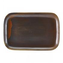 Terra Porcelain Rustic Copper Rectangular Plate 34.5 x 23.5cm