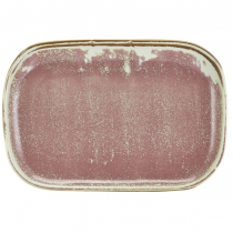 Terra Porcelain Rose Rectangular Plate 29 x 19.5cm