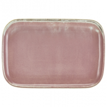 Terra Porcelain Rose Rectangular Plate 34.5 x 23.5cm