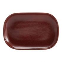 Terra Stoneware Rectangular Plate Red 24 x 16.5cm