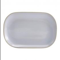 Terra Stoneware Rectangular Plate Rustic White 24 x 16.5cm