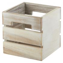 Acacia White Wood Box/ Riser 12 x 12 x 12cm