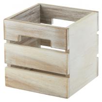 Acacia White Wood Box/ Riser 12 x 12 x 12cm