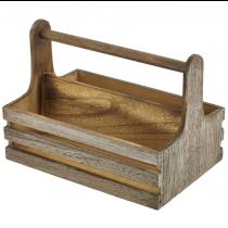 Rustic Wooden Table Caddy Medium