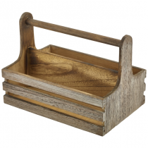 Rustic Wooden Table Caddy 24.5 x 16.5 x 18cm