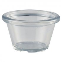 Clear Plastic Smooth Ramekin 1.5oz