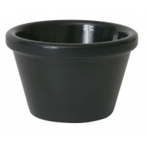 Genware Smooth Melamine Ramekin Black 1.5oz