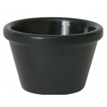 Genware Smooth Melamine Ramekin Black 3oz