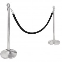 Barrier Post Ball Top Stainless Steel