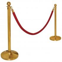 Barrier Post Ball Top Brass Plated