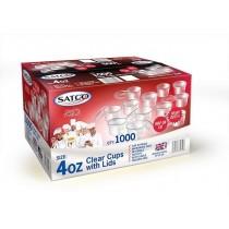 Satco 4oz Round Pots & Lids