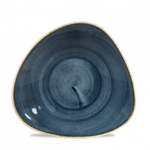 Churchill Stonecast Triangle Shallow Bowl Blueberry 27.2 x 26.7cm