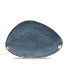Churchill Stonecast Chefs' Triangle Plate Blueberry 30.4 x 20.5cm