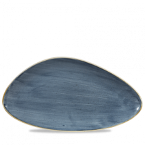 Churchill Stonecast Chefs' Triangle Plate Blueberry 35.5 x 18.8cm