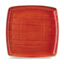 Churchill Stonecast Berry Red Square Plate 26.8cm