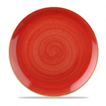 Churchill Stonecast Berry Red Coupe Plate 32.4cm