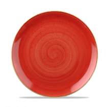 Churchill Stonecast Berry Red Coupe Plate 21.7cm