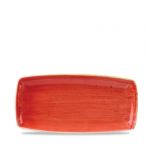 Churchill Stonecast Berry Red Oblong Plate 29.5 x 15cm