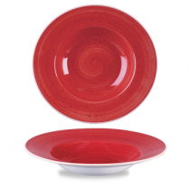 Churchill Stonecast Berry Red Wide Rim Bowl 28cm