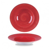 Churchill Stonecast Berry Red Wide Rim Bowl 24cm