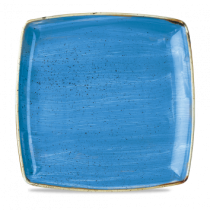 Churchill Stonecast Cornflower Blue Deep Square Plate 26.8cm