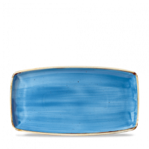 Churchill Stonecast Cornflower Blue Oblong Plate 35 x 18.5cm