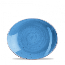 Churchill Stonecast Cornflower Blue Oval Coupe Plate 19.2cm