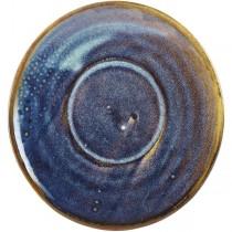 Terra Porcelain Aqua Blue Coffee Cup Saucer 14.5cm