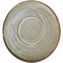 Terra Porcelain Smoke Grey Coffee Cup Saucer 14.5cm