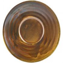 Terra Porcelain Rustic Copper Espresso Cup Saucer 11.5cm