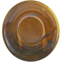 Terra Porcelain Rustic Copper Coffee Cup Saucer 14.5cm