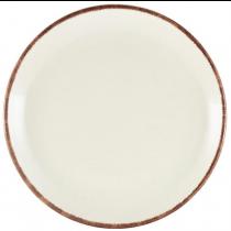 Terra Stoneware Coupe Plate Sereno Brown 24cm
