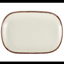 Terra Stoneware Rectangular Plate Sereno Brown 34.5 x 23.5cm