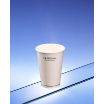 Recyclable Paper Cups Half Pint To Rim White CE 10oz / 284ml