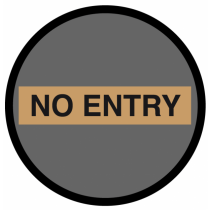 No Entry Floor & Wall Graphic 400mm