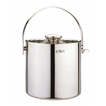 Elia Double Wall Ice Bucket with Tongs Stainless Steel 3.2Ltr