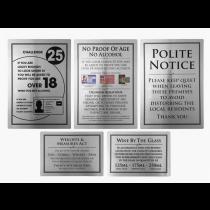 Bar Licensing Sign Pack