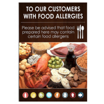 Food Allergies Notice Sign A4