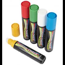 Rainbow Liquid Chalk Pens Mixed Colours 15mm Chisel Tip