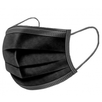 Disposable 3 Ply Face Masks Black