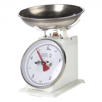 Analogue Weighing Scales 5kg Graduated in 20g White
