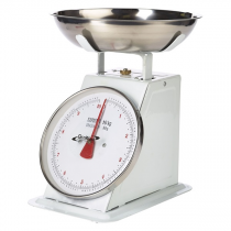 Analogue Weighing Scales 10kg Graduated in 50g White