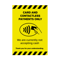 A5 Card & Contactless Payments Only Vinyl Sticker