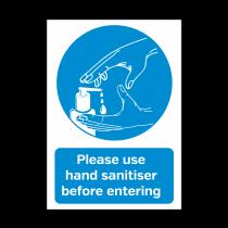 A5 Please Use Hand Sanitiser Before Entering Vinyl Sticker